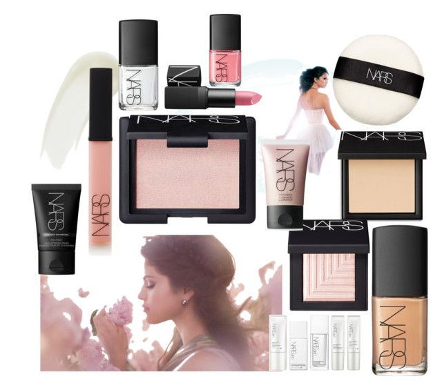 """""""Nars beauty with selena gomez"""" by fashioncopasser ❤ liked on Polyvore featuring beauty and NARS Cosmetics"""