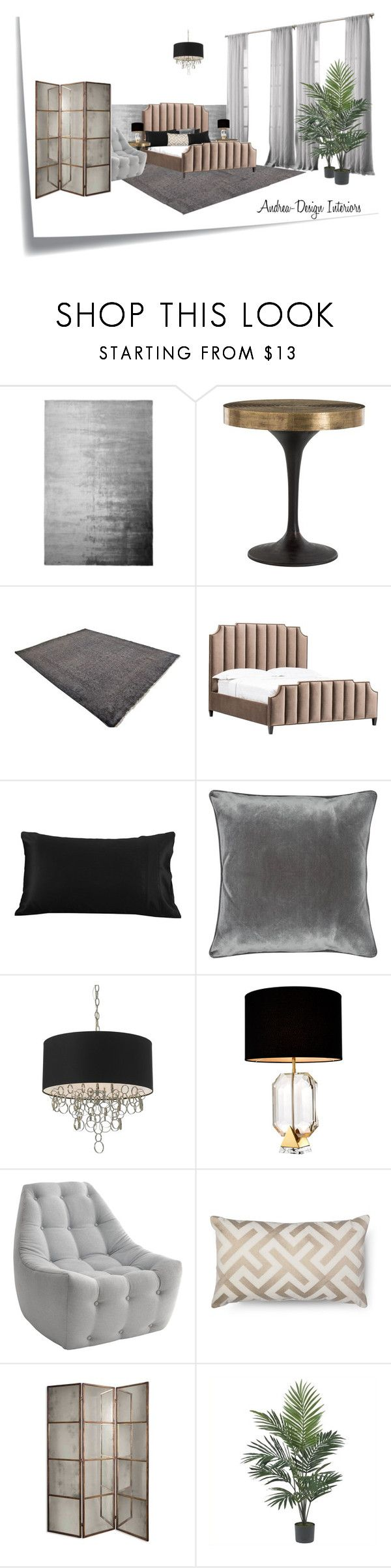"""Bedroom_Buda1"" by andrea-szakos on Polyvore featuring interior, interiors, interior design, home, home decor, interior decorating, Post-It, Designers Guild, Arteriors and M&Co"