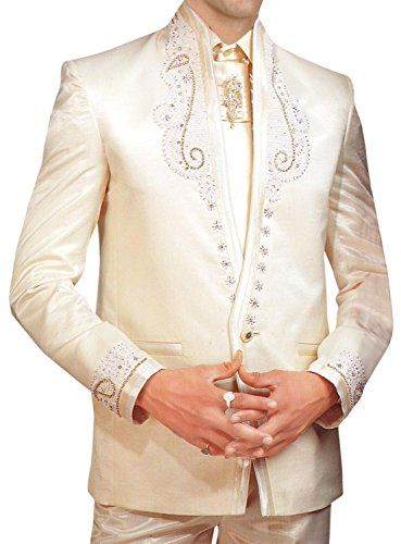 Mens Wedding Formal Wear 5 pc Ivory Tuxedo Suit TX164 | FABULOUS WEDDING GOWNS