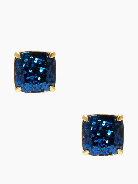 kate spade earrings small square studs -love these in any bold color - glitter or no glitter