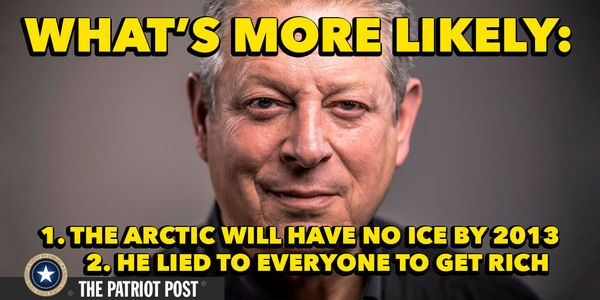 That's funny, the arctic hasn't melted yet. I wonder if he was just trying to get rich.