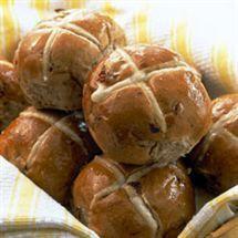 Chelsea Sugar - Easter Hot Cross Buns (Breadmaker recipe)