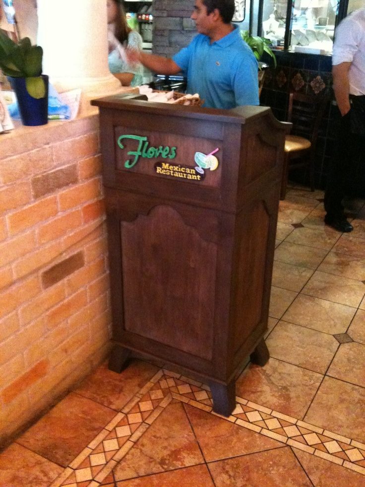 Custom Hostess Stand For Local Mexican Restaurant By Http