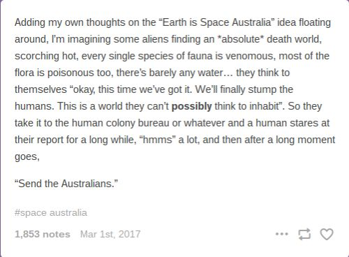 Humans Are Weird/Space Australia Send The Australians