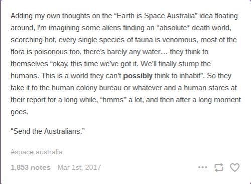 Humans Are Weird/Space Australia Send The Australians