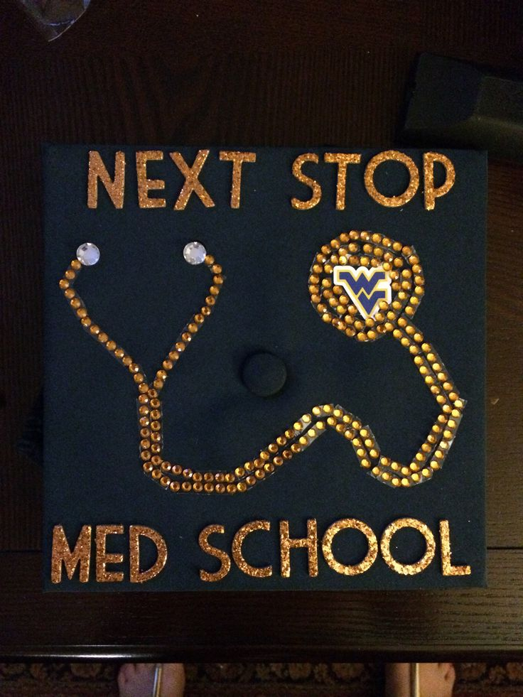 Graduation cap! Future doctor! WVU medical school