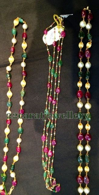 Jewellery Designs: Below 6 Grams Beads Jewellery