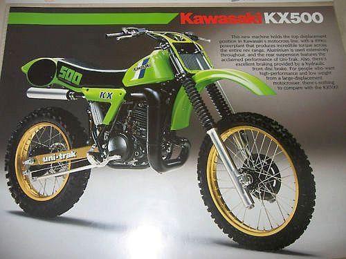 Vintage Kawasaki Dirt Bike Parts