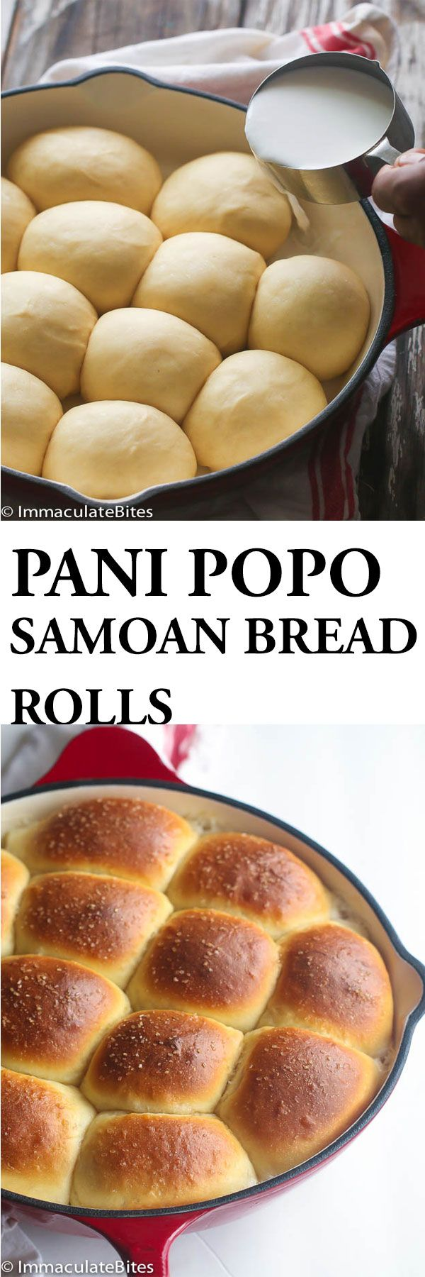 Samoan Coconut Bread Rolls aka Pani Popo. Decadent Sweet Dinner Rolls baked in coconut milk .Light, Airy and Fluffy .Unbelievable good!! My immense love of anything and everything coconut coupled with my continued urge to make my weekend morning worth looking forward to, steer me, towards this Coconut Samoan Sweet Bread. I knew …
