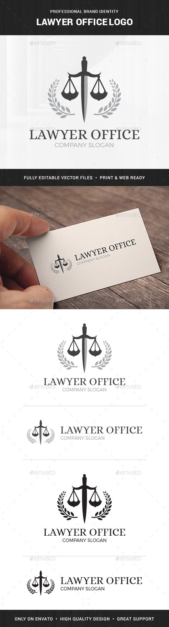 Lawyer Office Logo Template – Symbols Logo Templates