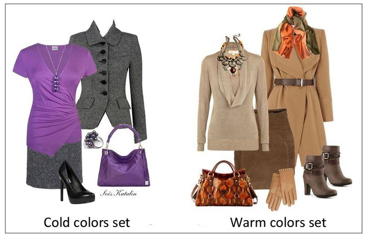 cold colors and warm colors sets