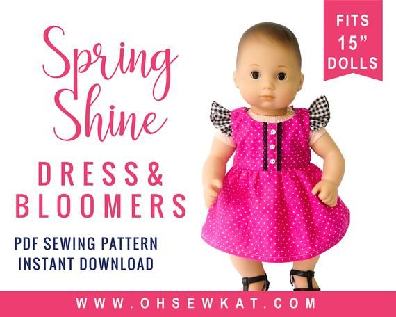 Doll Clothes Sewing Pattern For 15 Inch Baby Doll Clothes Etsy In 2020 Clothes Sewing Patterns Sundress Sewing Patterns Baby Doll Clothes