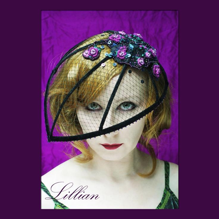 Lillian. fascinator. //  http://karolina-g.blogspot.com/2012/02/lillian.html