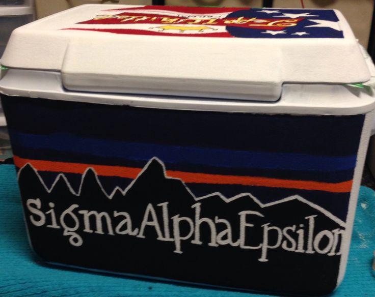 Sigma alpha epsilon Patagonia formal cooler