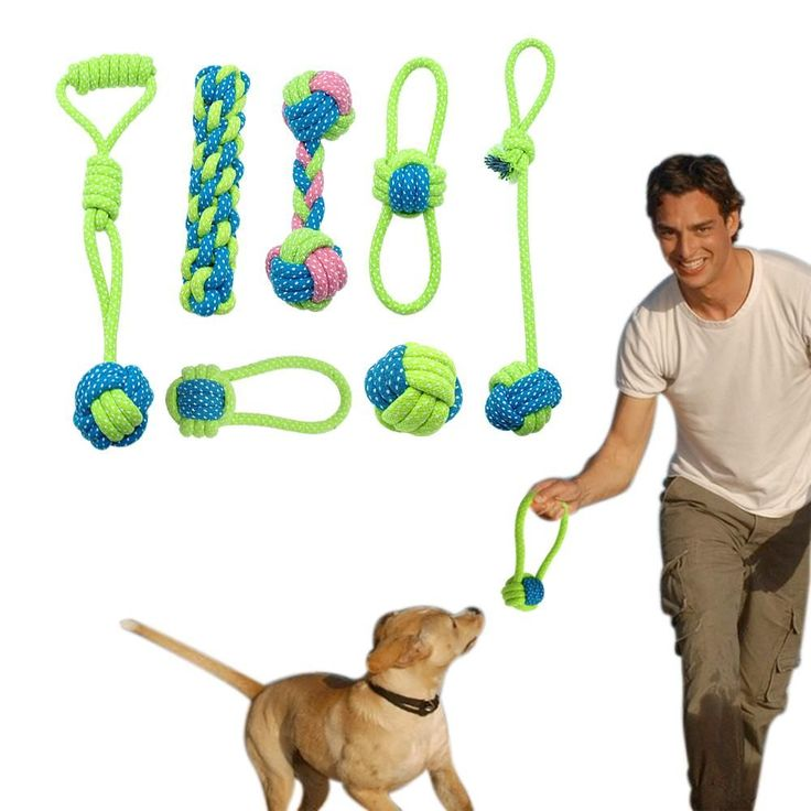 Dog Rope Toy Knot Puppy Chew Teething Toys Teeth Cleaning Pet Palying Ball #teethcleaning