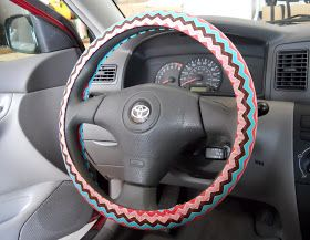 Corner Window Crafts: DIY Steering Wheel Cover