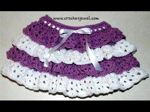 Amy's Crochet Creative Creations: Crochet Ruffle Skirt (Girls size 2, 4)