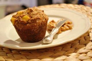 Muffins déjeuners pour les jours santé, double son, raisins et ananas