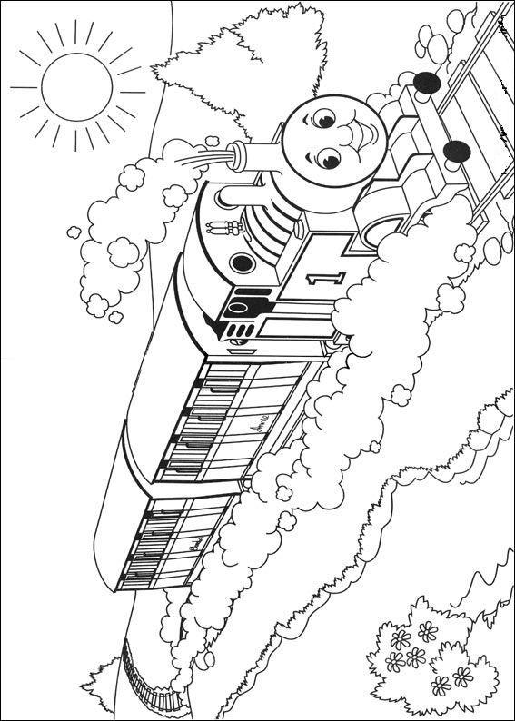 Print Thomas De Trein Kleurplaat Train Pinterest