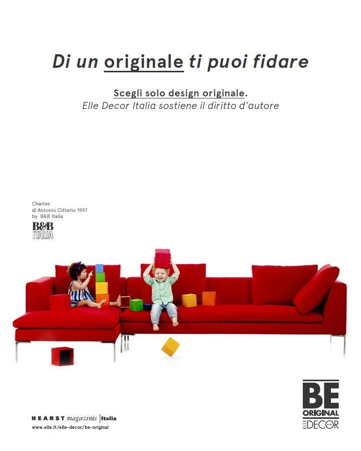 On air da Marzo la campagna pubblicitaria promossa da Elle Decor per il progetto Be Original, a sostegno del design d'autore. #beoriginal