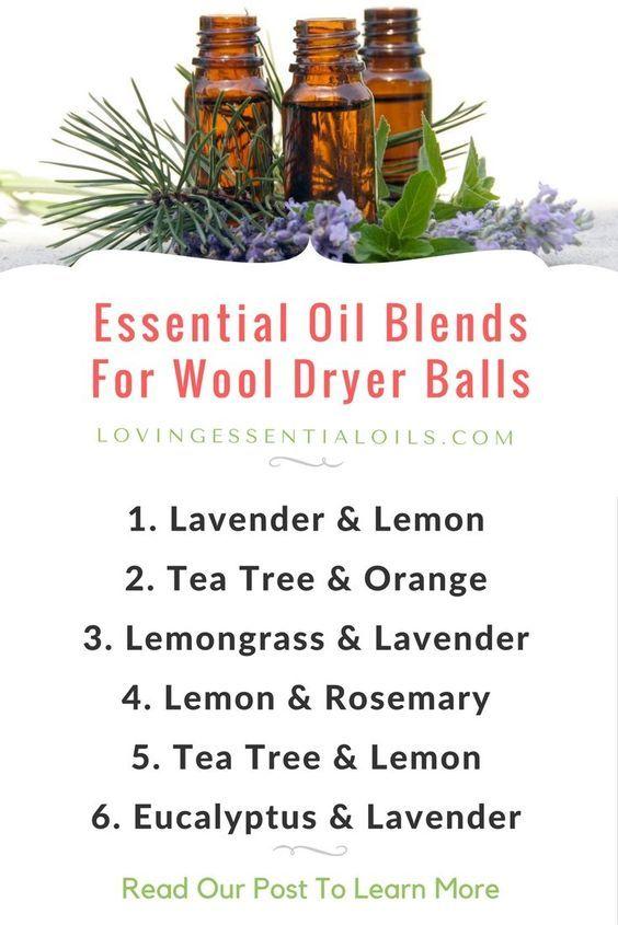Essential oil blends for wool dryer balls