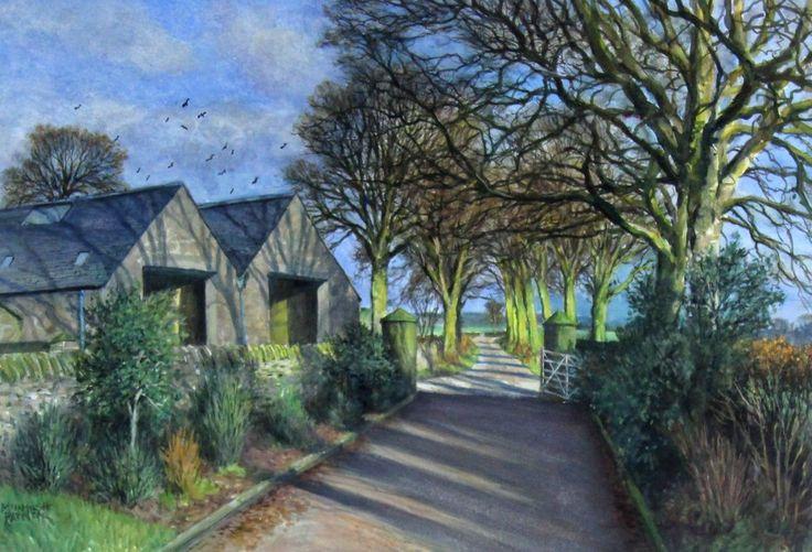 James McIntosh Patrick The Avenue, Berryhill Farm Watercolour | Scottish Contemporary Art