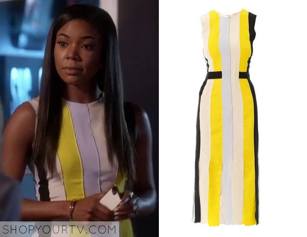 Being Mary Jane: Season 2 Episode 6 Mary Jane's Yellow Striped Dress