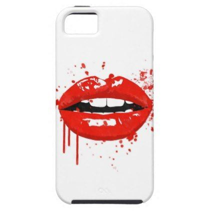 Red lips kiss beauty fashion makeup Case-Mate iPhone case | Zazzle.com  – girly …