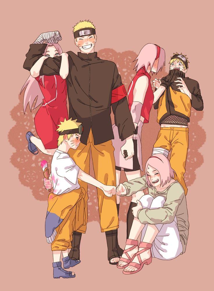 Tags: Fanart, NARUTO, Haruno Sakura, Uzumaki Naruto, PNG Conversion, Eyum