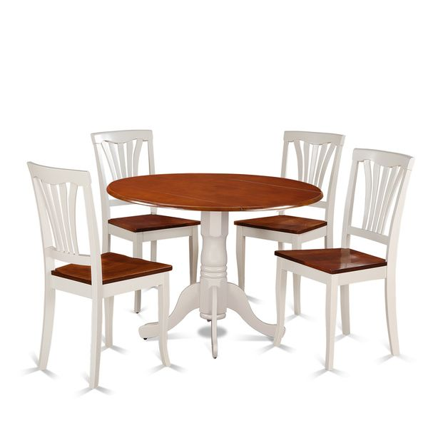 Oak Small Kitchen Table And 4 Chairs Dining Set: 5-piece Dining Set With Kitchen Table And 4 Kitchen Chairs