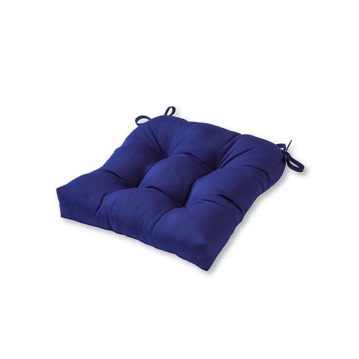 Greendale Home Fashions Square Sunbrella Outdoor Chair Pad, Blue, Durable