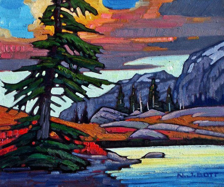 Nicholas Bott OIL Mount Washington Sunset