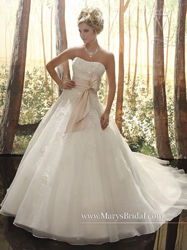 Lovely Collection Bridal Gowns Fairy Tale Princess Description Organza A line gown strapless sweetheart neckline lace up back Includes belts