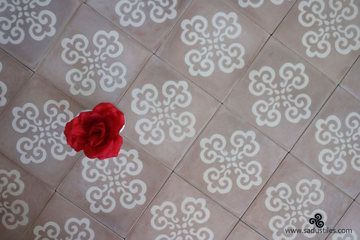 Exclusive Sadus Tiles design S-10 hand made cement tiles. All our tiles are on order only.
