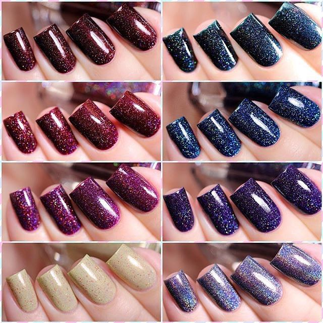 Gorgeous swatches of 8 of our 2015 Fall shades by @de_briz!! ❤️ #ILNPFall2015