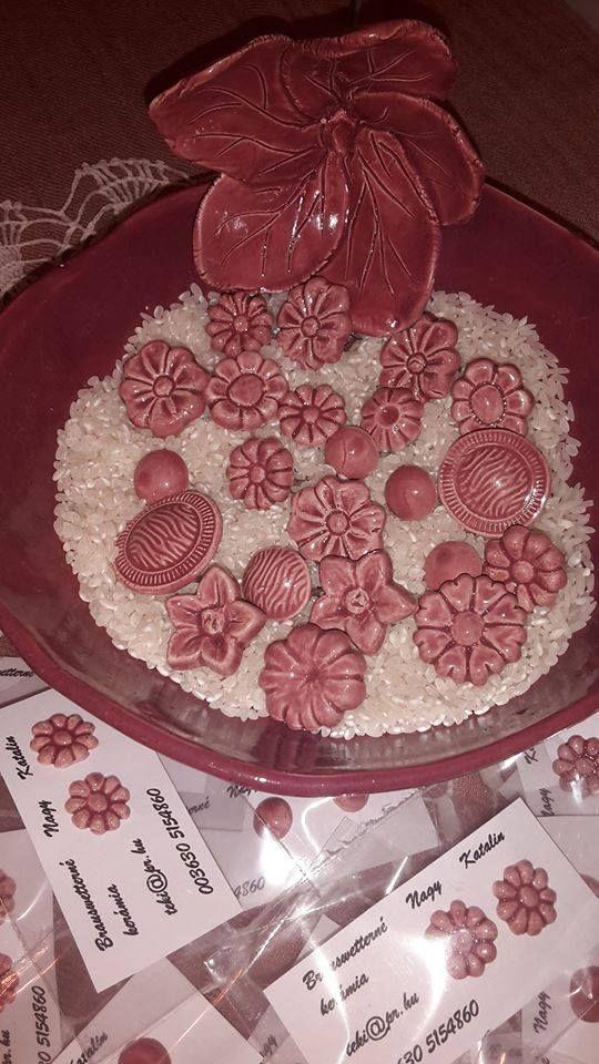 mallow flower, mauve, ceramics, DIY