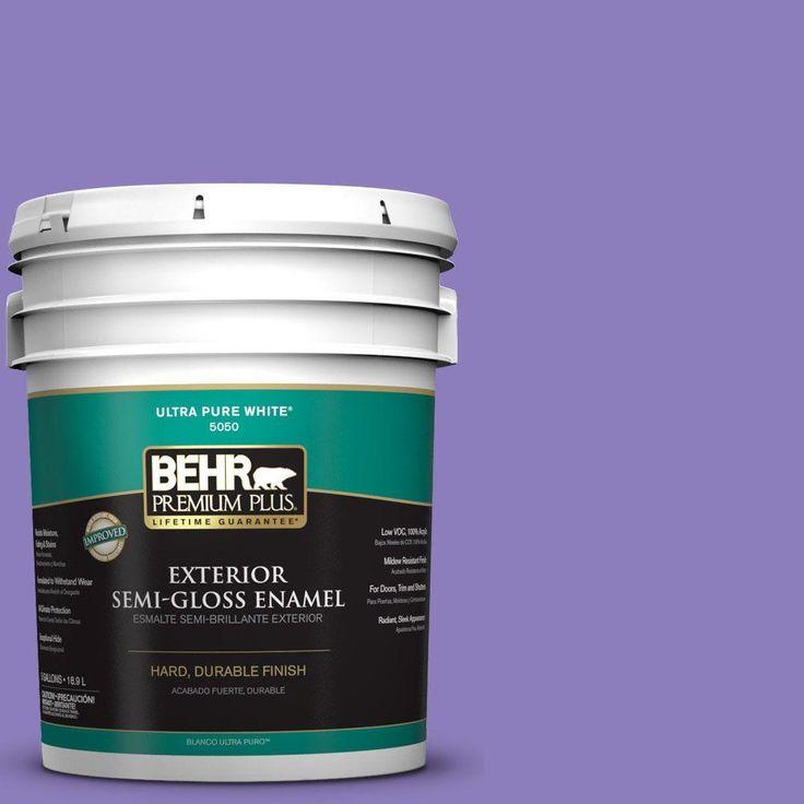 BEHR Premium Plus 5-gal. #P560-5 Unimaginable Semi-Gloss Enamel