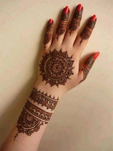 Beautiful Round Mehndi Designs For Hands