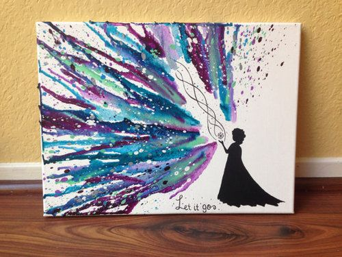 """Disney's """"Frozen"""" Melted Crayon Art. This is so pretty."""