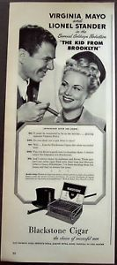 VIRGINIA MAYO & LIONEL STANDER for Blackstone cigars