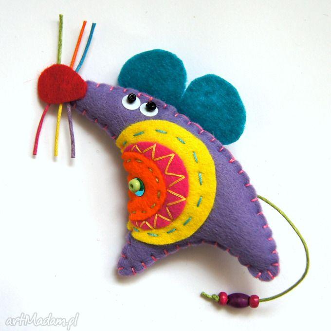 Myszowata broszka filcu broszki tinyart filc mysz modna lekka