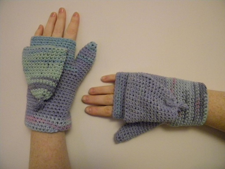 Convertible mittens: Pattern