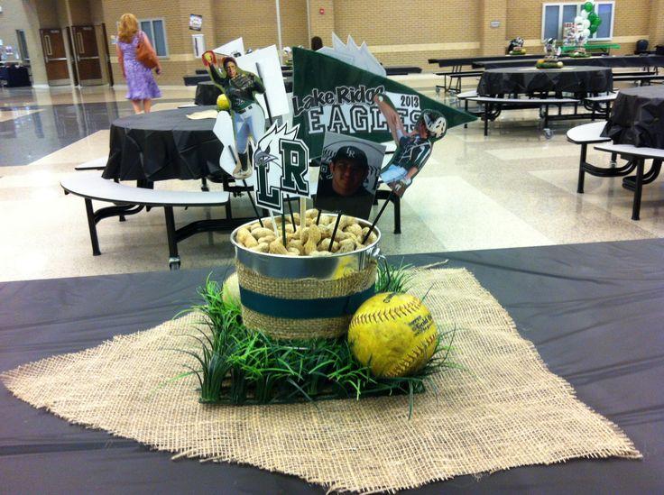 Baseball banquet decorations
