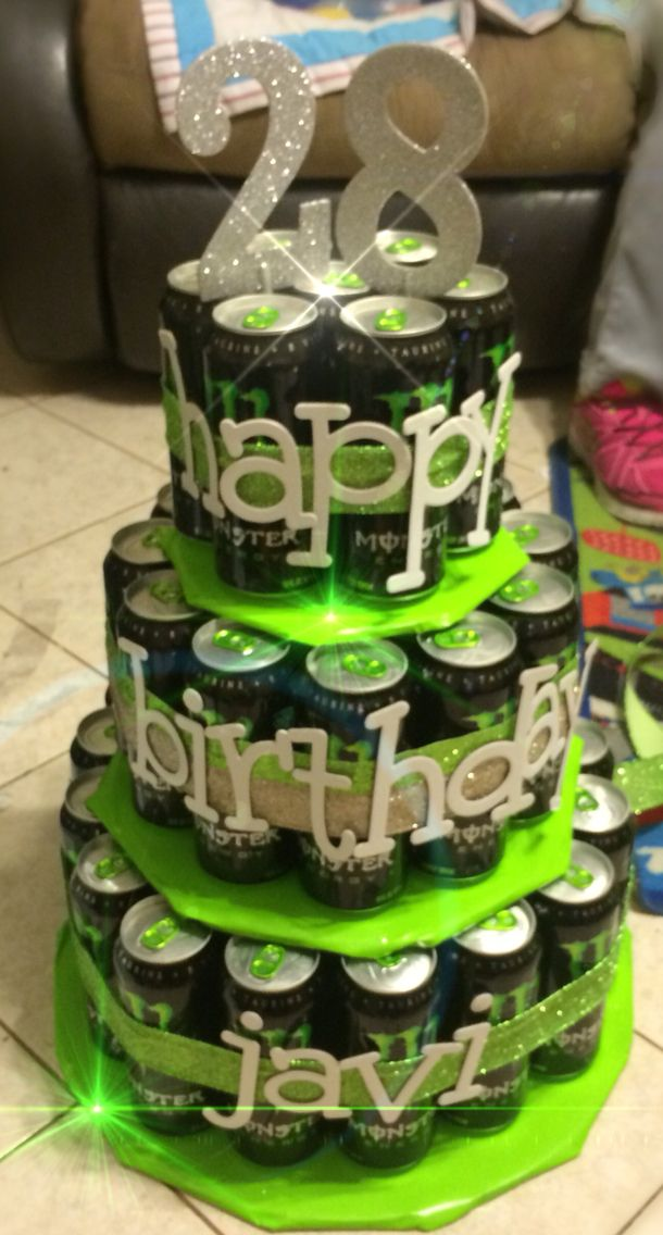 Monster energy drink cake #mosterenergycake