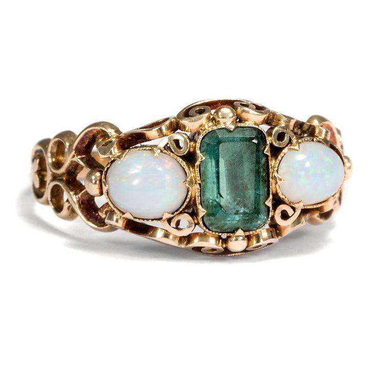 Vintage Ehering Smaragd
