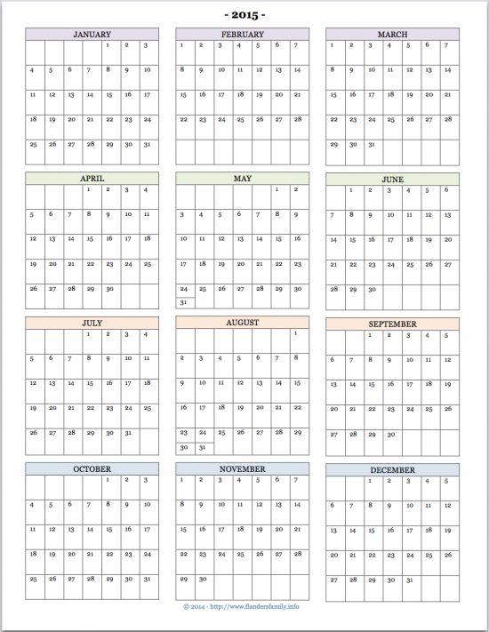 17 Best ideas about Printable Yearly Calendar on Pinterest   Joy ...