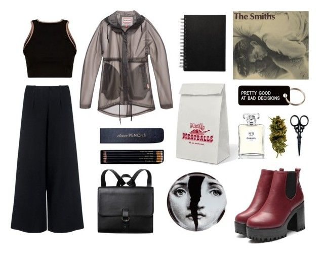 """God's Gonna Cut You Down"" by matildetilde on Polyvore featuring moda, Various Projects, C/MEO COLLECTIVE, Fornasetti, Fred & Friends, Chanel, Monki, The BrowGal, Hunter y Sloane Stationery"