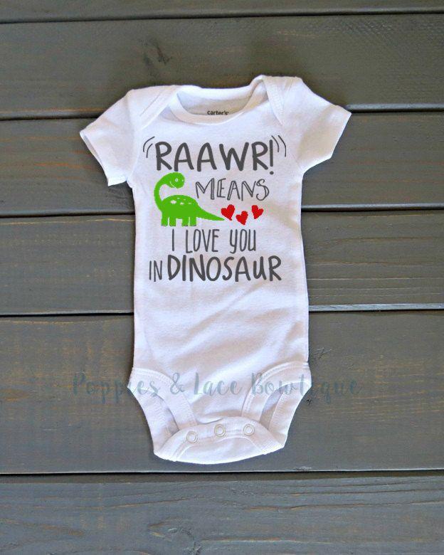 Dinosaur onesie,  Valentines Day Shirt, Unisex Kids Clothing, Funny Baby onesie, Baby Shower Gift