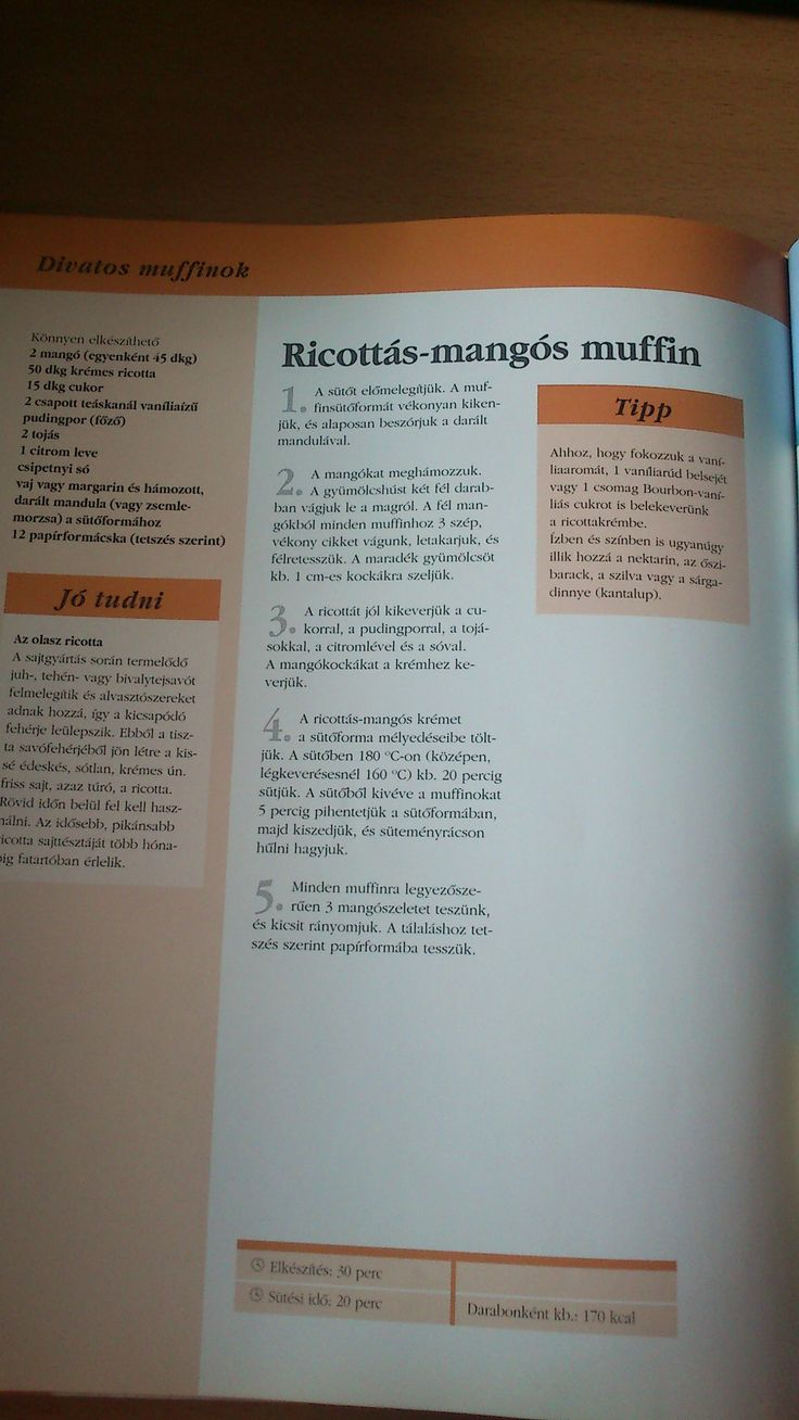Ricottás-mangós muffin