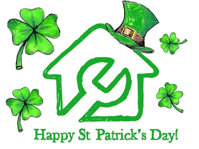 BuySpares - Happy St Patrick's Day Doodle.